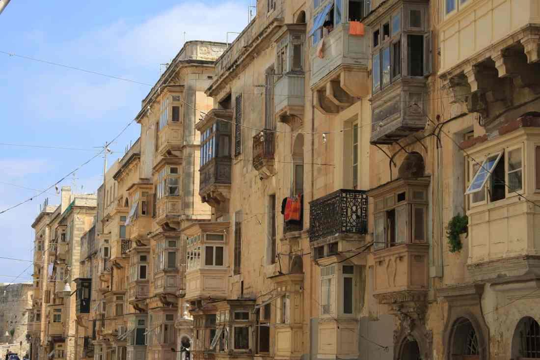 Straßen von Valetta, Malta