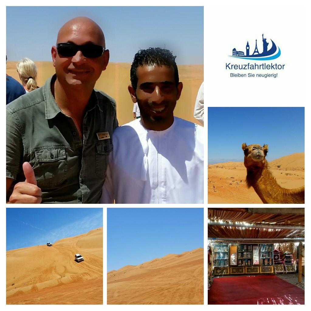 Collage aus dem Oman, Wüste Rimal Al Wahiba