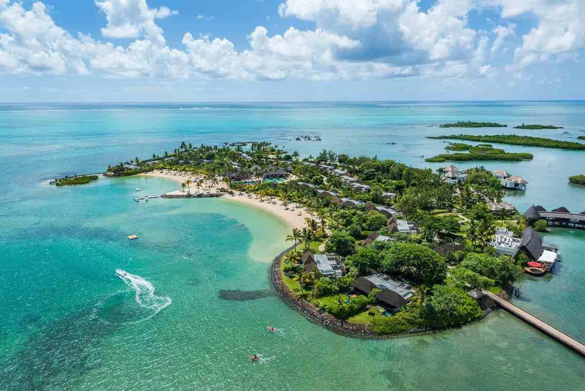 Aerial View Four Seasons Mauritius at Anahita