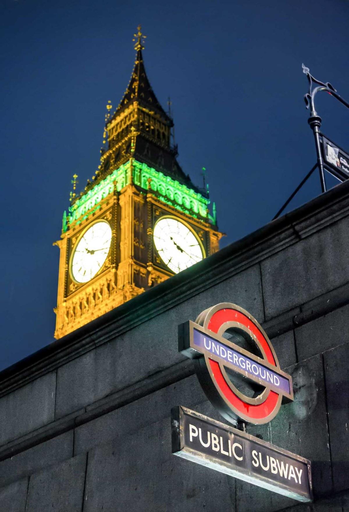 London, Big Ben, Underground
