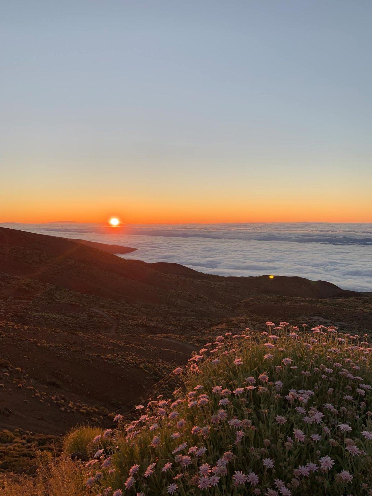 Brennende Wolken über Teneriffa