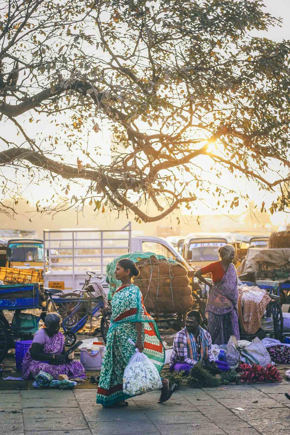 Schmutziges Sinnbild in Indien
