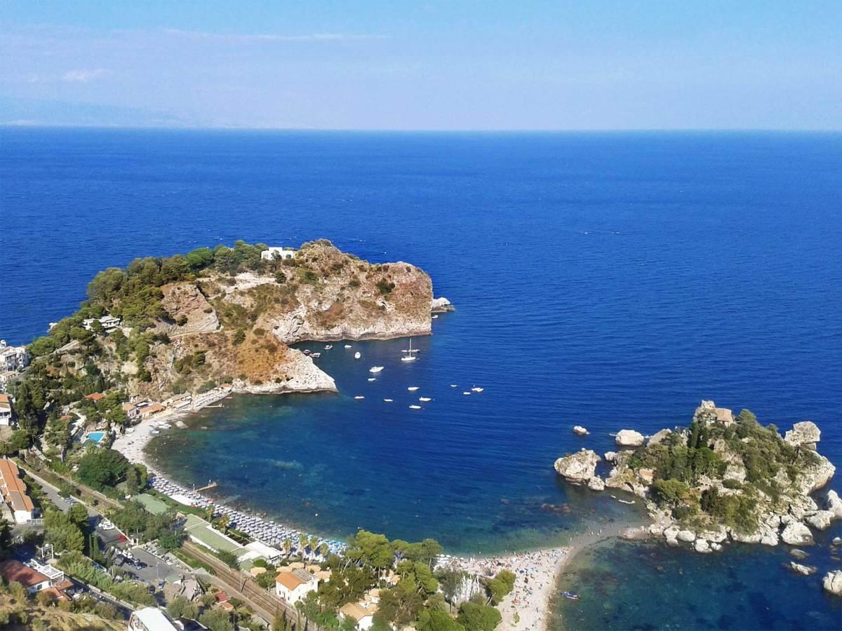 Taormina, Isola Bella, Sizilien