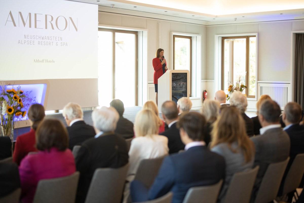 Eröffnung AMERON Neuschwanstein Alpsee Resort & Spa. Mit Ilse Aigner, Präsidentin des Bayerischen Landtags