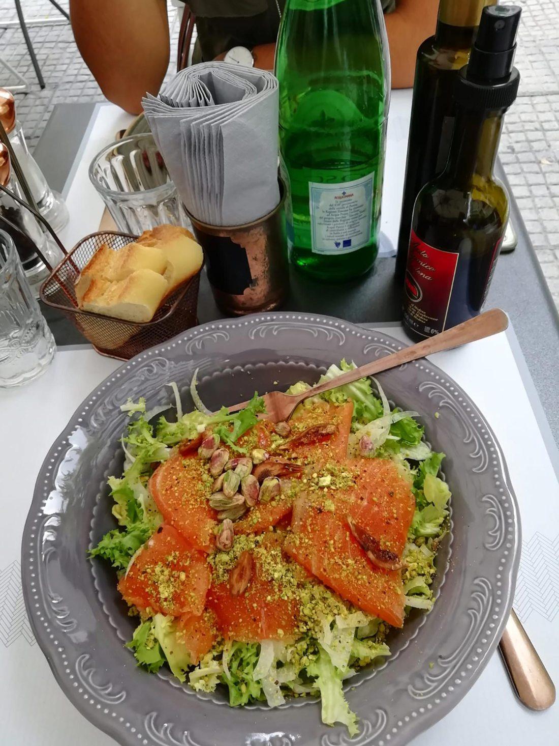 Lachssalat, Tritalo, Palermo, Sizilien