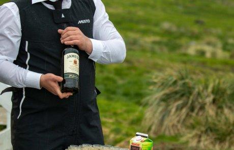 Whisky Begrüßung, Einwohner, Grytviken, Südgeorgien