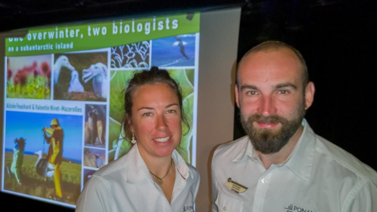 Alizee Fouchard und Valentin Nivet-Mazerolles. Überwintern in der Subantarktis