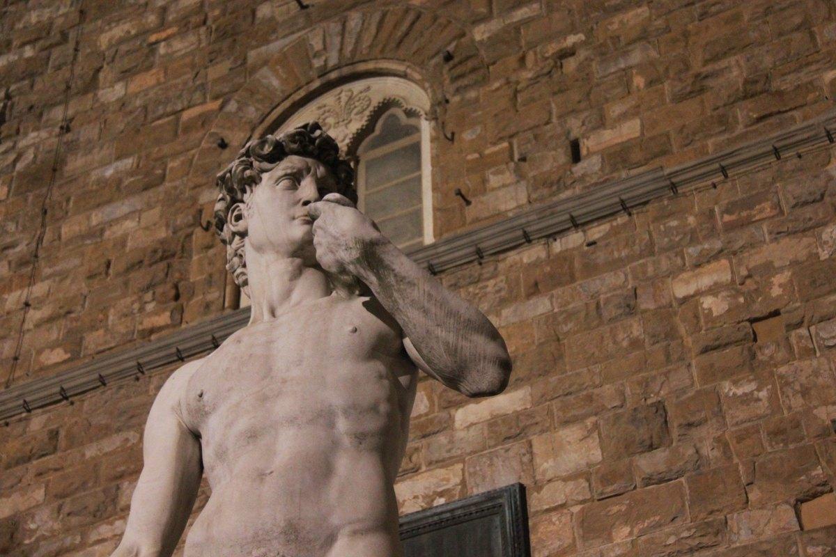 Skulptur bei den Uffizien
