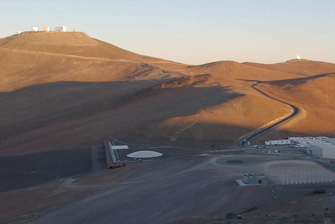 Das Observatorium auf dem Cerro Paranal