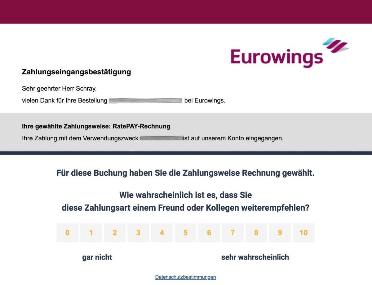 Eurowings Bewertung
