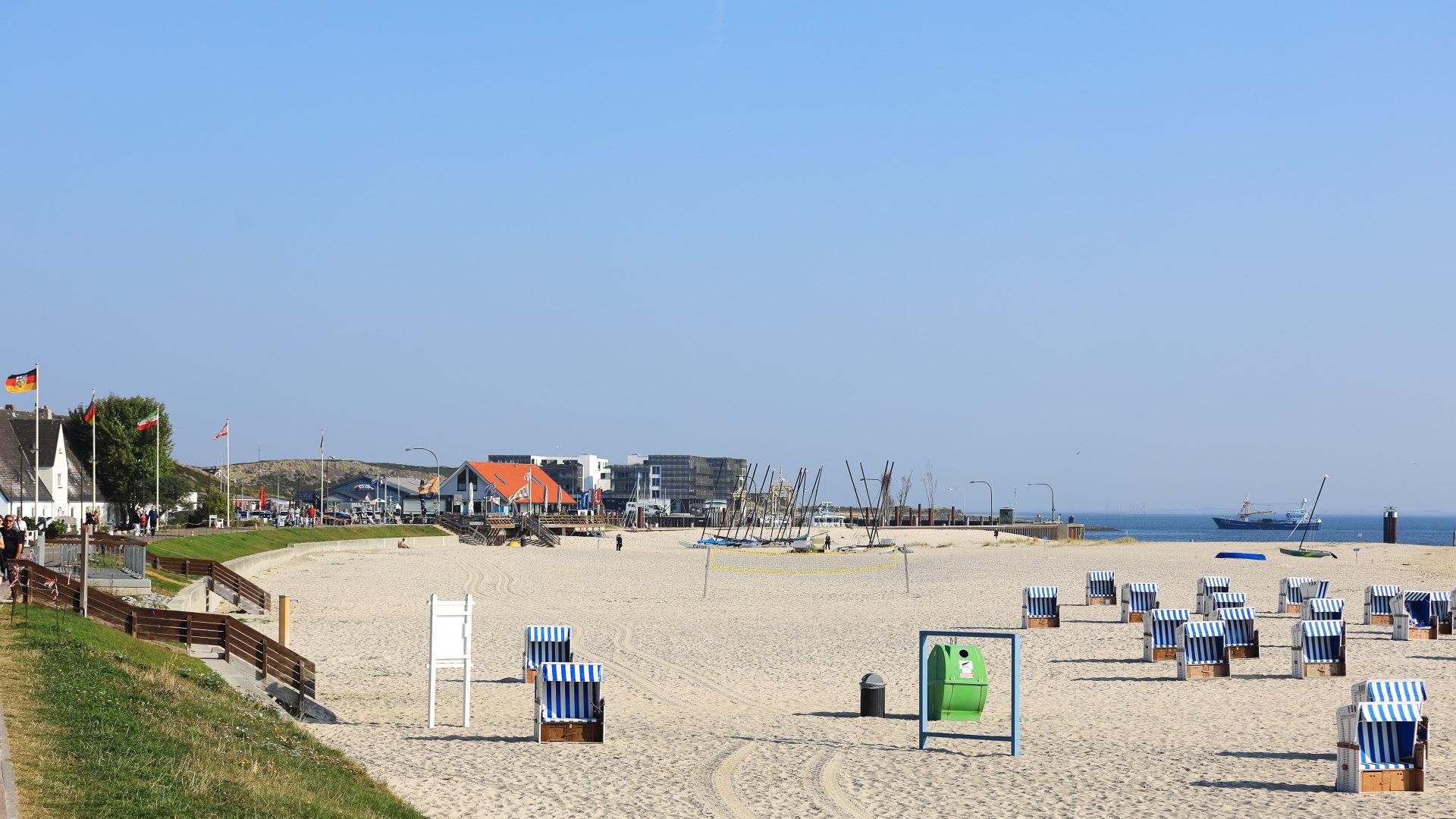 Hörnum, Strandbad und Strandkörbe