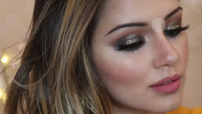 Glittery Bronzed Party Makeup Amp Hair Tutorial Video