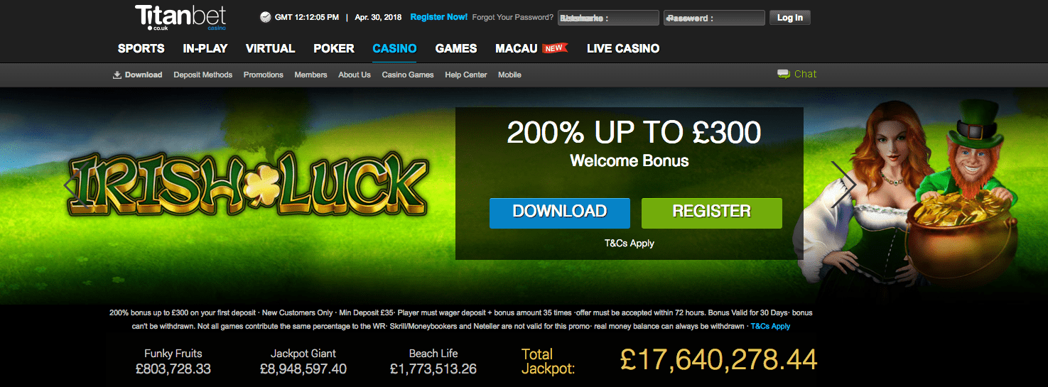 200% Casino Bonus Uk