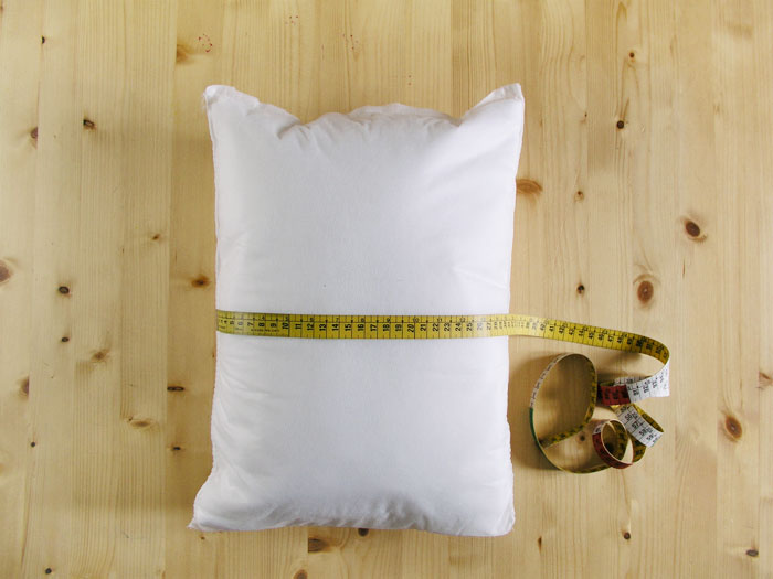 Measure the actual contour of a cushion