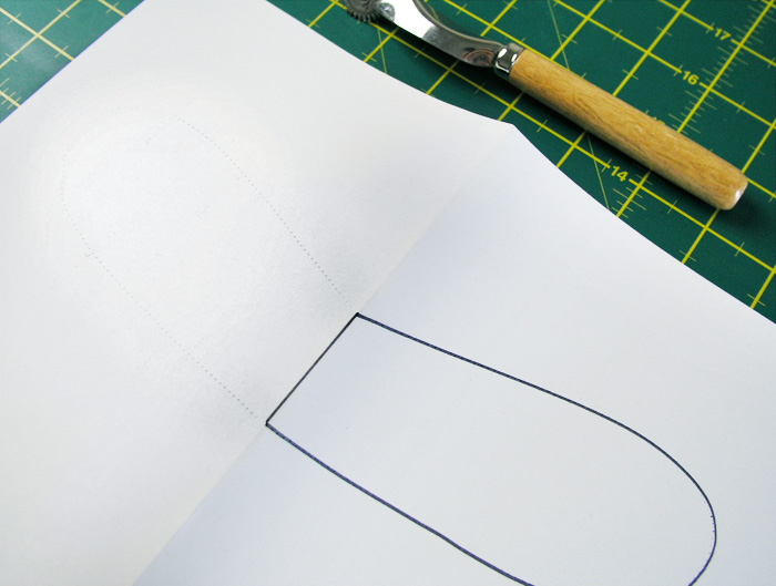 Unfold the paper and follow the marked dotted line |  Betsy Sewing