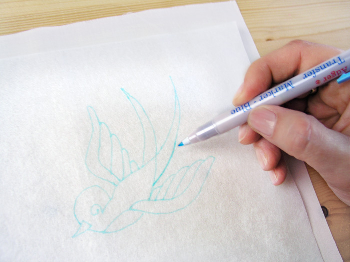 Trace the drawing with the tissue under the paper    Betsy Sewing