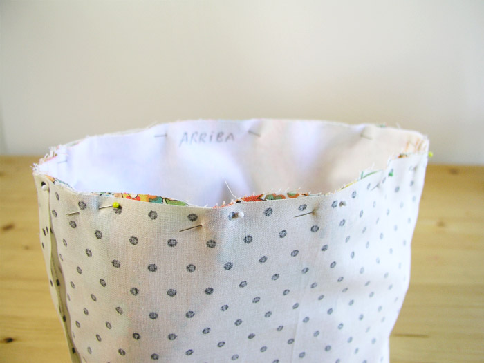 Place the interior piece facing the rights |  Betsy Sewing