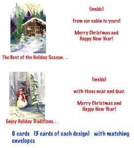 Betsy Bear Creations Small Christmas Cards