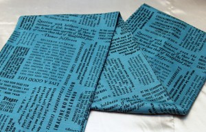 blue atheist scarf with atheist quotes