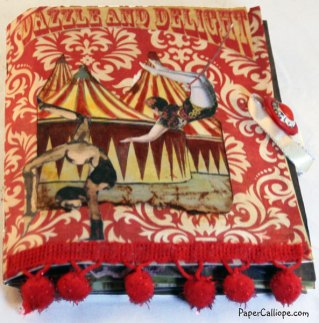 Altered Art Circus Box Hidden Book