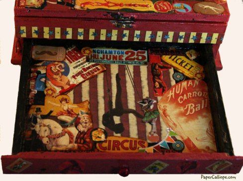 Altered-art-circus-box-drawer-by-Paper-Calliope