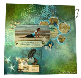 Beach Beautiful layout by Paper Calliope