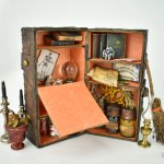 Make a miniature witch's steamer trunk for Halloween