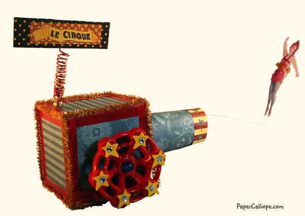 Artist Trading Block Human Cannonball 2--by Paper Calliope