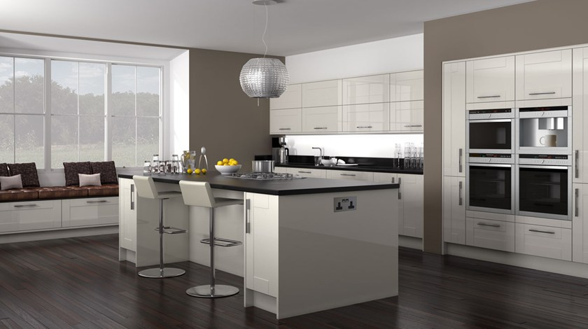 Shaker Hi Gloss Cream Kitchen Fitted Traditional Kitchens From Betta Living