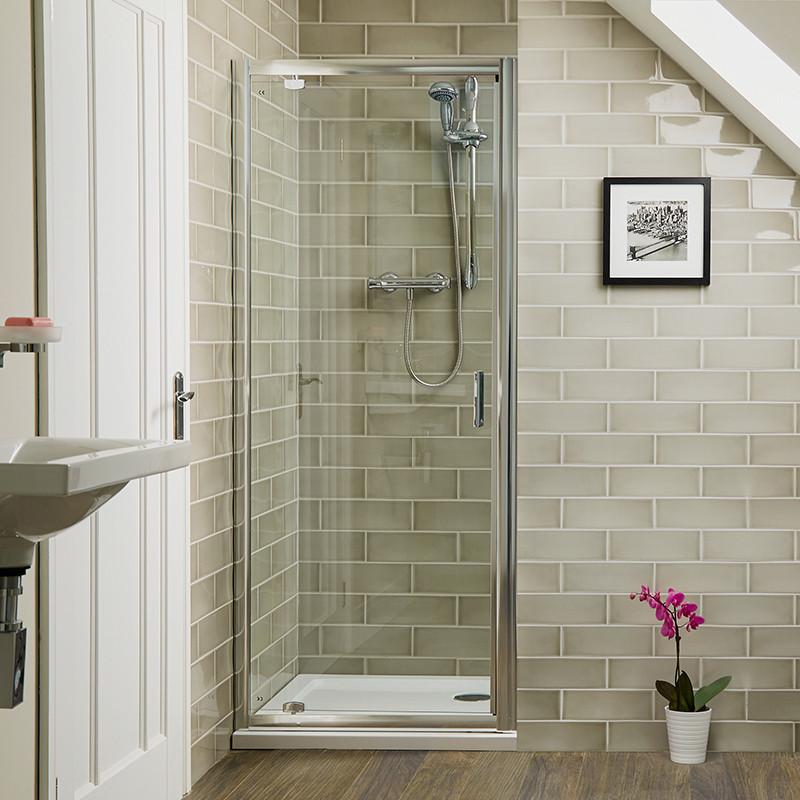 Aqualine 6mm 800 Pivot Shower Door
