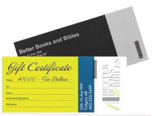 Gift Certificate Christian Books