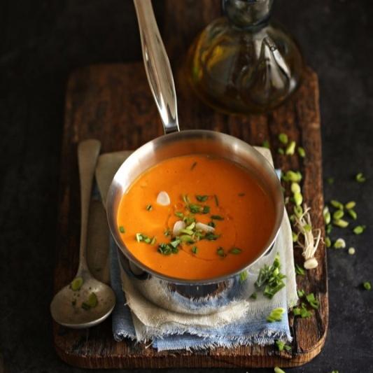 Quick Tomato Coconut Soup