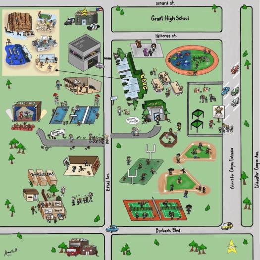 Monarch Camps LAVC Map