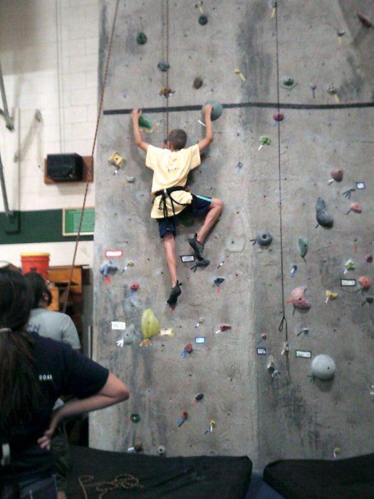 camp alsing rock climbing wall