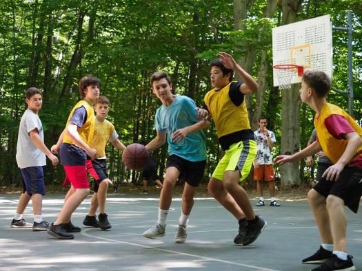 camp walden mi boys playing basketball
