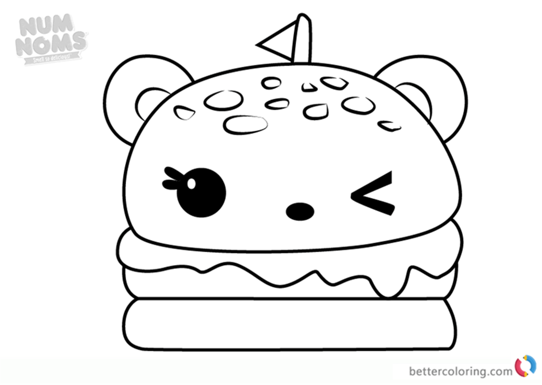 Melty Burger Num Noms Coloring Pages Series 2 Free