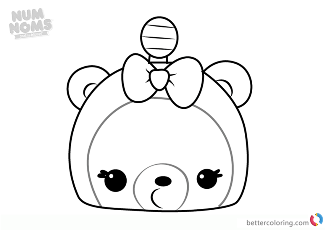 Mia Mango From Num Noms Coloring Pages Series 3