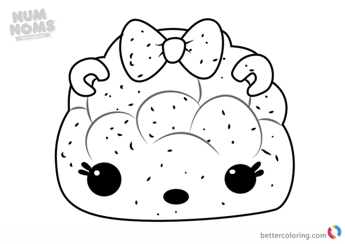 Mintee Light Up Num Noms Coloring Pages Series 1 Free