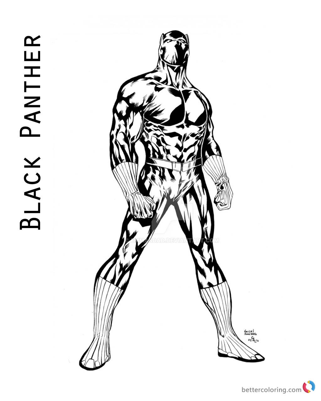 Black Panther Coloring Pages Of Marvel Movie