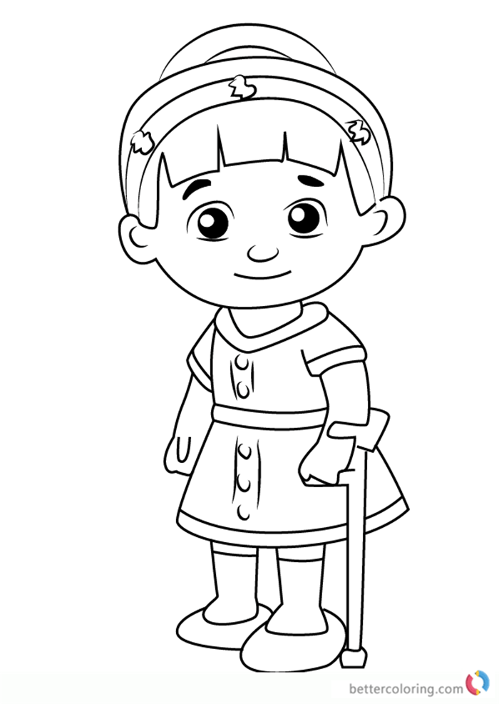 Chrissie From Daniel Tiger Coloring Pages Free Printable