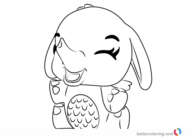 Giggling Elefly From Hatchimals Coloring Sheet Free