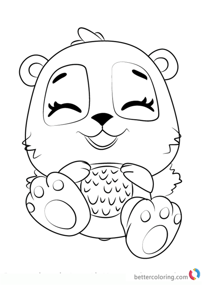 giggling pandor from hatchimals coloring pages  free