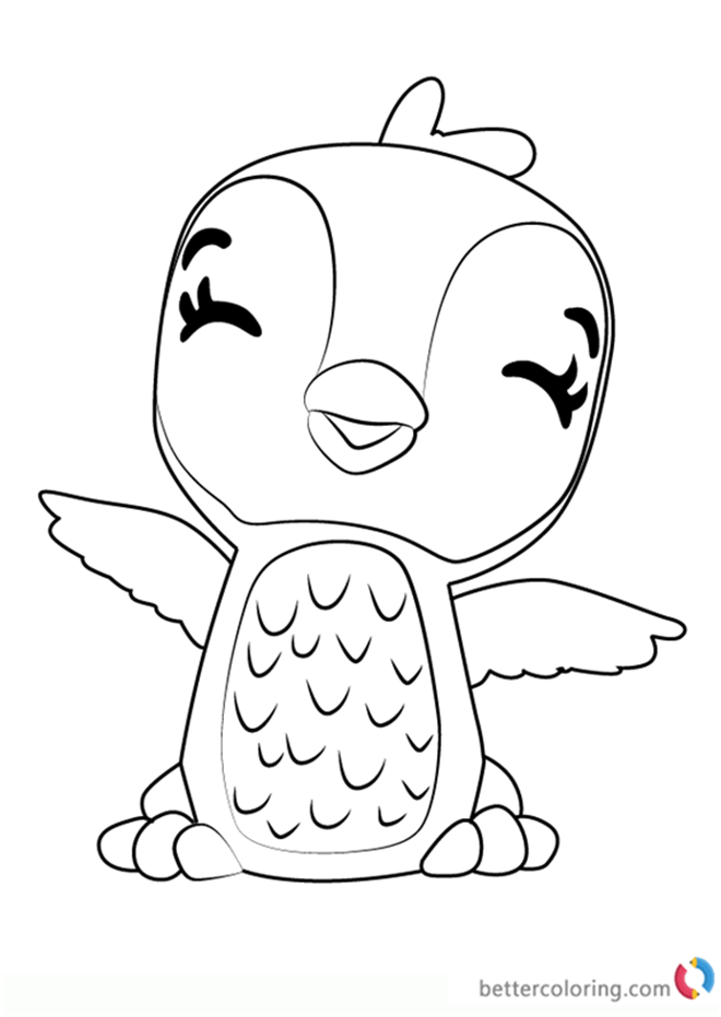 giggling penguala from hatchimals coloring pages  free