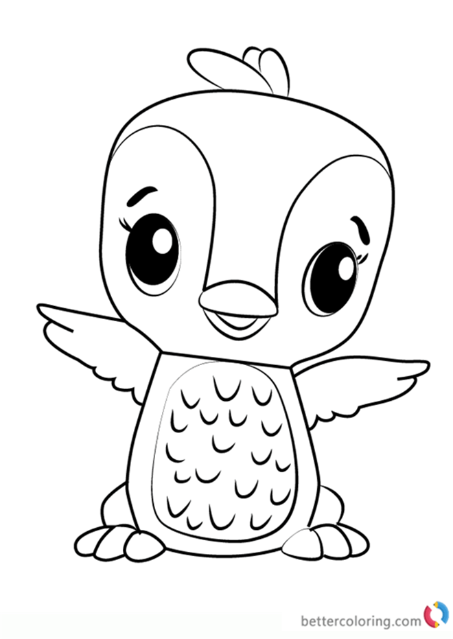 Polar Penguala From Hatchimals Coloring Pages Free