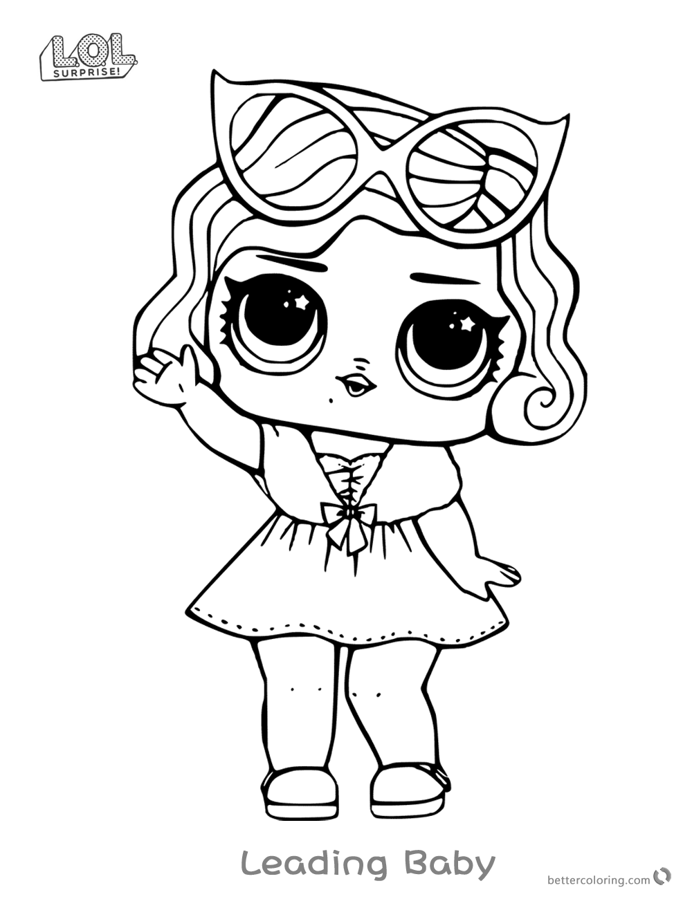 Leading Baby From Lol Surprise Doll Coloring Pages Free