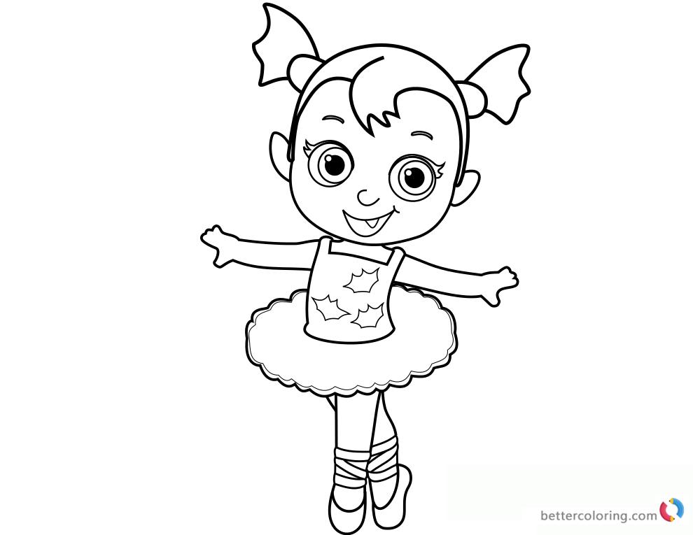Vampirina Coloring Pages Baby Ballerina Free Printable