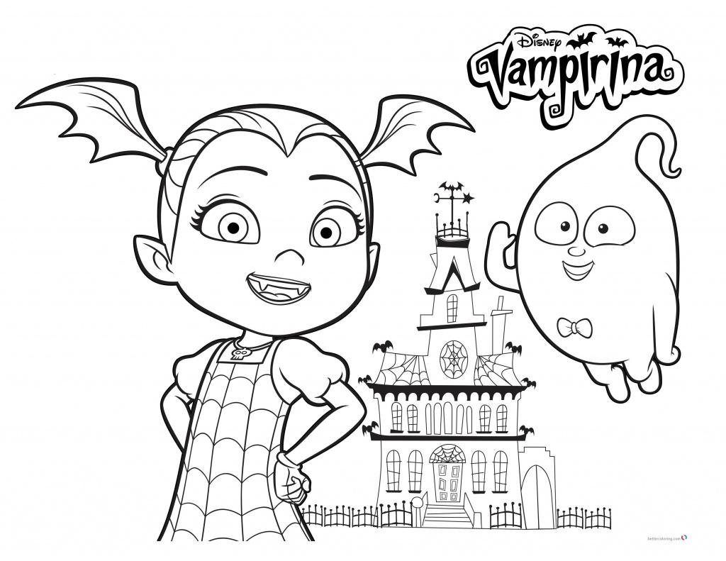 Vampirina Color Page Print