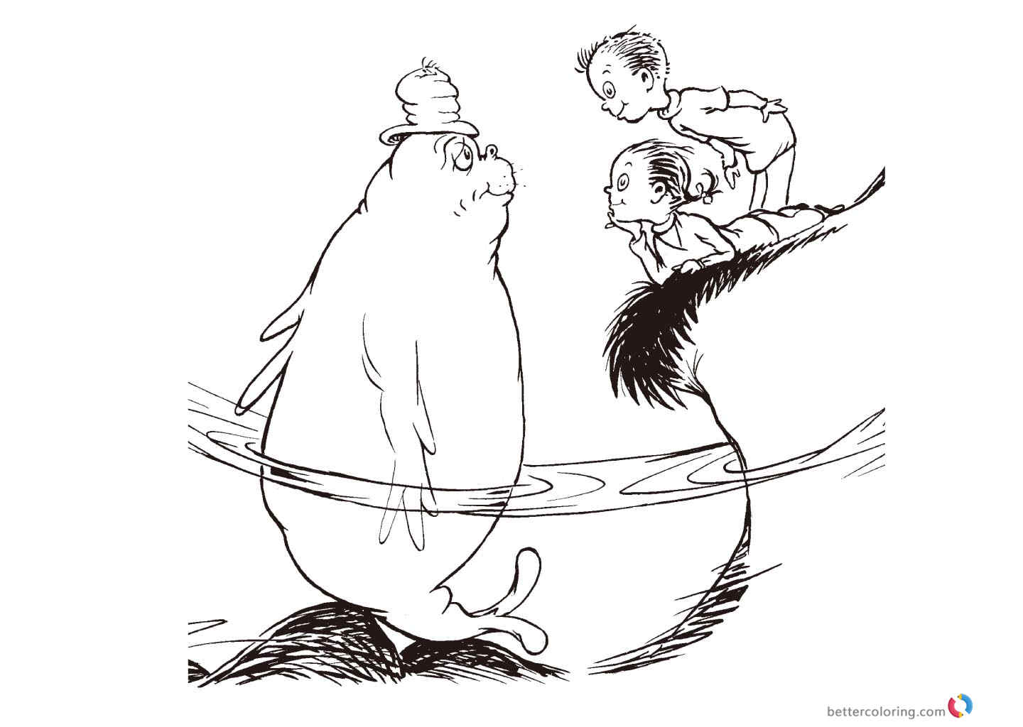 Dr Seuss Coloring Pages One Fish