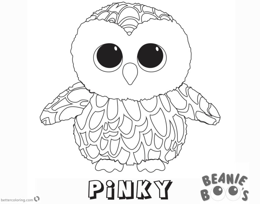 beanie boo coloring pages owl pinky  free printable