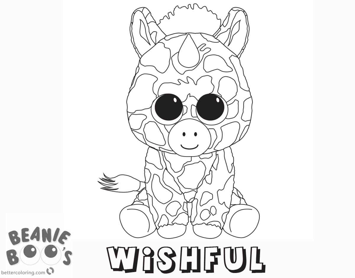 Beanie Boo Coloring Pages Unicorn Wishful Free Printable Coloring Pages